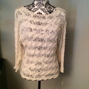 Anthropologie/Moth Ribbon Knit Blouse Top Sweater